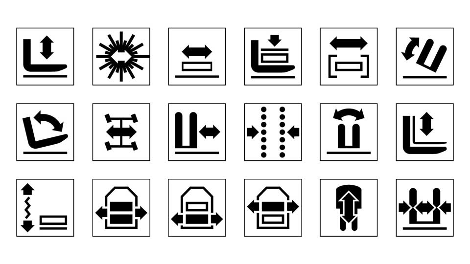 industrial design pictograms symbols AGV E&K Automation
