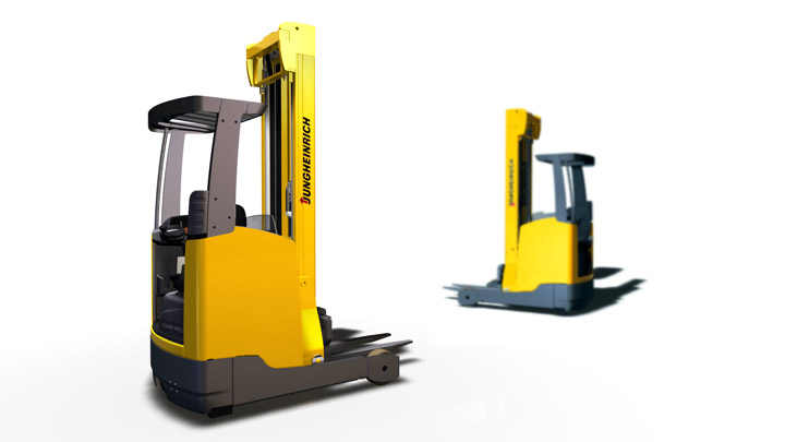 Jungheinrich product design, CAD surface modelling, engineering for reach truck ETV